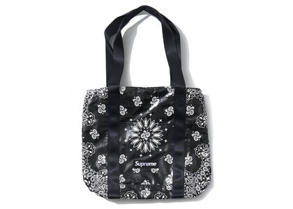 Supreme Bandana Tarp Small Duffle Bag Black (SS21)の写真