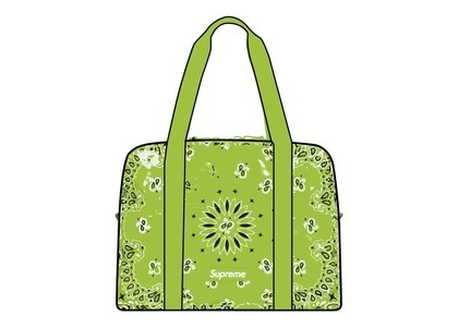 Supreme Bandana Tarp Small Duffle Bag Green (SS21)の写真