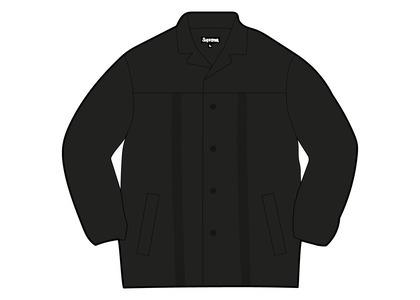 Supreme Braided Leather Overcoat Black (SS21)の写真