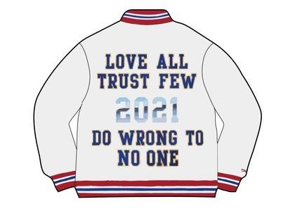 Supreme Mitchell & Ness Satin Varsity Jacket White (SS21)の写真