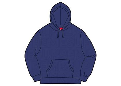 Supreme Embossed Logos Hooded Sweatshirt Purpleの写真