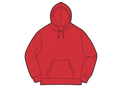 Supreme Embossed Logos Hooded Sweatshirt Red (SS21)の写真