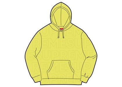 Supreme Embossed Logos Hooded Sweatshirt Yellowの写真