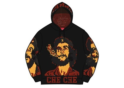 Supreme Che Hooded Zip Up Sweater Black (SS21)の写真