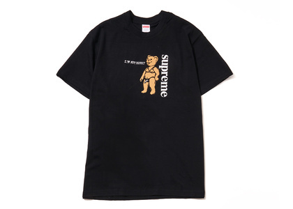 Supreme Not Sorry Tee Black (SS21)の写真