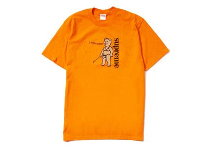 Supreme Not Sorry Tee Orange (SS21)の写真
