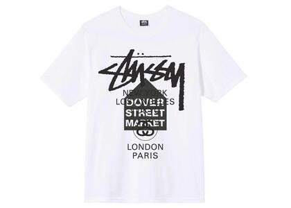 Dover Street Market × Stussy World Tour Pack Tee S/SL White (SS21)の写真
