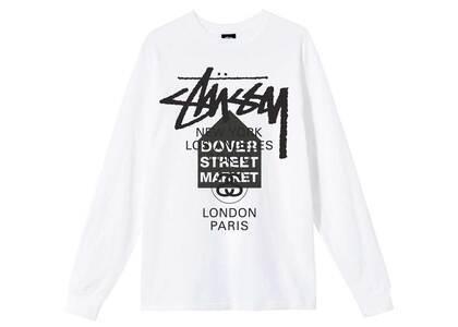 Dover Street Market × Stussy World Tour Pack Tee L/SL White (SS21)の写真
