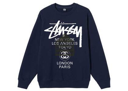 Dover Street Market × Stussy World Tour Pack Crew Navy (SS21)の写真