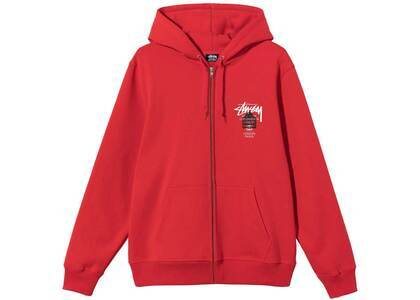 Dover Street Market × Stussy World Tour Pack Zip Hood Red (SS21)の写真