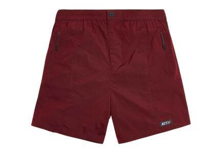 Kith Solid Sporty Wrinkle Short Red Dahliaの写真