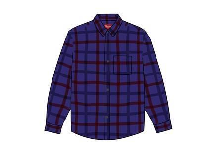 Supreme Tartan Flannel Shirt (FW19) Purpleの写真