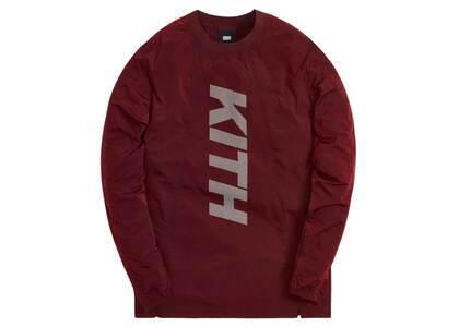 Kith L/S Panelled Wrinkle Nylon Pullover Red Dahliaの写真