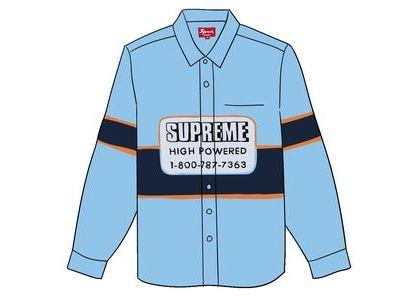 Supreme High Powered Work Shirt Light Blueの写真