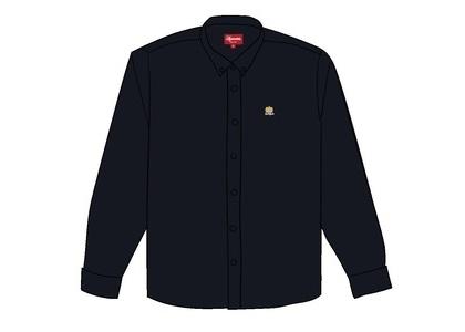 Supreme Flannel Oxford Shirt Blackの写真