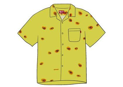 Supreme Eyes Rayon Shirt Yellowの写真