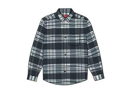 Supreme Tartan Flannel Shirt Blackの写真