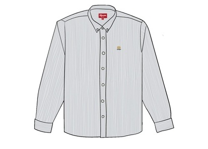 Supreme Flannel Oxford Shirt Blue Stripeの写真