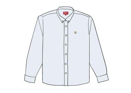 Supreme Flannel Oxford Shirt Whiteの写真