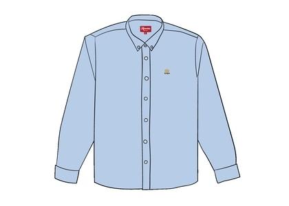 Supreme Flannel Oxford Shirt Light Blueの写真
