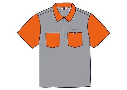 Supreme Ben Davis Half Zip Work Shirt Hickory Stripeの写真
