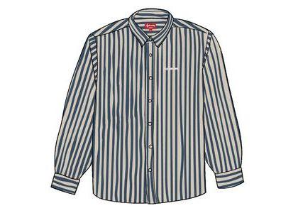 Supreme Denim Shirt Blue Stripeの写真