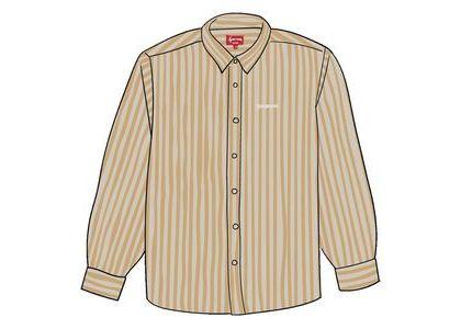 Supreme Denim Shirt Tan Stripeの写真