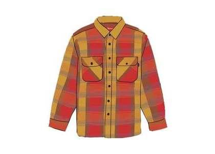 Supreme Heavyweight Flannel Shirt Redの写真