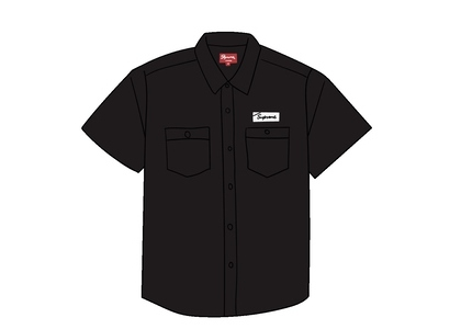 Supreme God's Favorite S/S Work Shirt Blackの写真