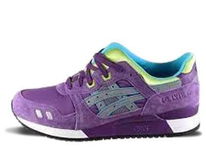 Asics Gel-Lyte III Purple Grey Limeの写真