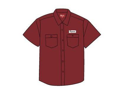 Supreme God's Favorite S/S Work Shirt Burgundyの写真