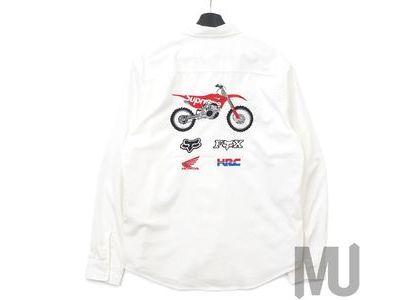 Supreme Honda Fox Racing Work Shirt Whiteの写真