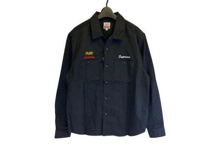 Supreme Honda Fox Racing Work Shirt Blackの写真