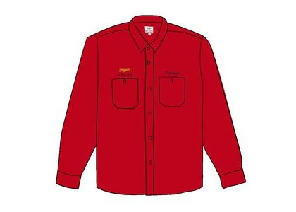 Supreme Honda Fox Racing Work Shirt Redの写真