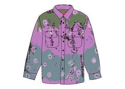 Supreme Batik Print Rayon Shirt Purpleの写真