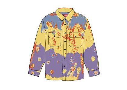 Supreme Batik Print Rayon Shirt Yellowの写真