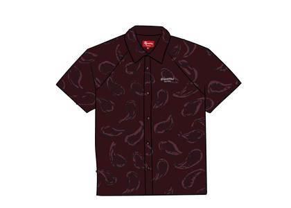 Supreme Velour S/S Shirt Burgundy Paisleyの写真