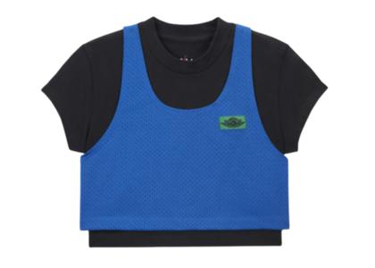 Aleali May × Nike Jordan Layered Top Blueの写真