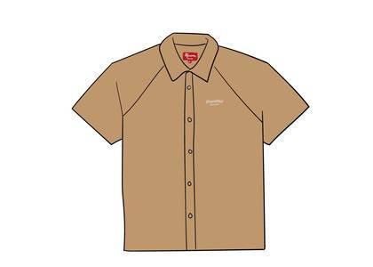 Supreme Velour S/S Shirt Goldの写真