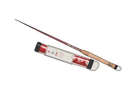Supreme SOUTH2 WEST8 Tenkara Fishing Rod Red (SS21)の写真