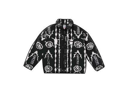 Supreme SOUTH2 WEST8 Fleece Jacket Black/White (SS21)の写真