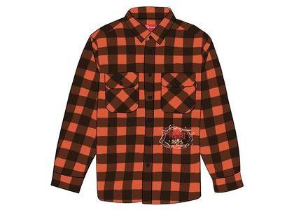 Supreme 1-800 Buffalo Plaid Shirt Orangeの写真