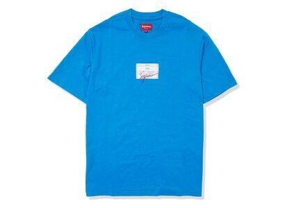 Supreme Signature Label S/S Top Blue (SS21)の写真