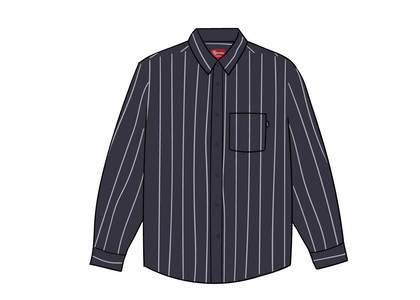 Supreme Stripe Shirt Blackの写真