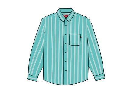 Supreme Stripe Shirt Tealの写真
