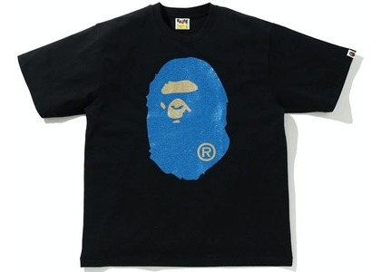 Bape Glitter Big Ape Head Relaxed Fit Tee Black/Blue (SS21)の写真