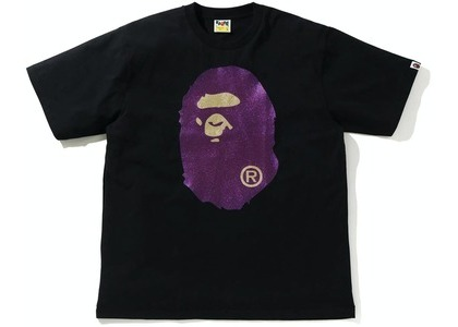 Bape Glitter Big Ape Head Relaxed Fit Tee Black/Purple (SS21)の写真