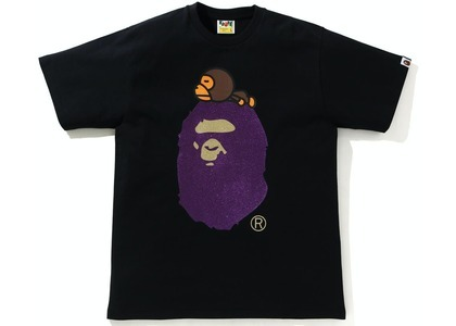 Bape Glitter Milo on Big Ape Tee Black/Purple (SS21)の写真