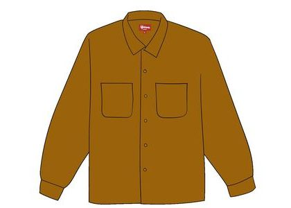 Supreme Corduroy Shirt (FW19) Goldの写真
