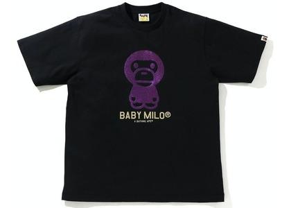 Bape Glitter Baby Milo Tee Black/Purpleの写真